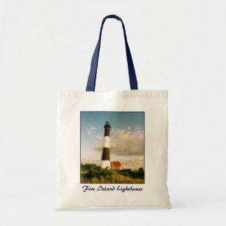 'Fire Island Lighthouse @ Sunset' Budget Canvas Tote Bag