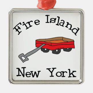 Fire Island Metal Ornament