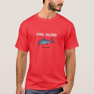 Fire Island New York Shark T Shirt