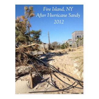 Fire Island NY after Hurricane Sandy 2012 Postcard