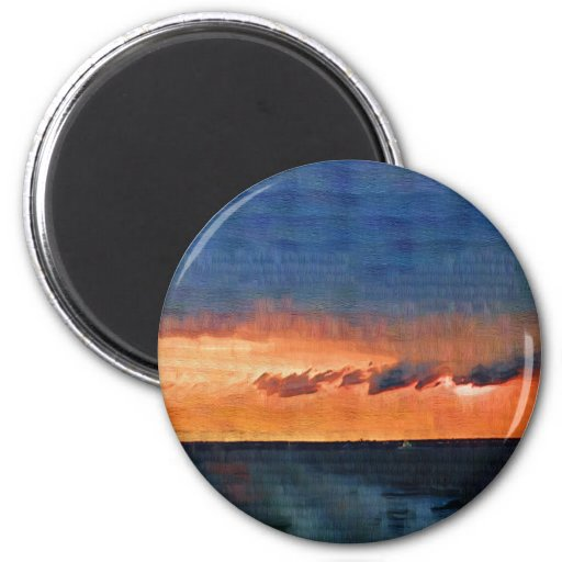 Fire Island Sunset Refrigerator Magnets