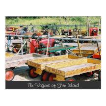 Fire Island Wagon Postcard