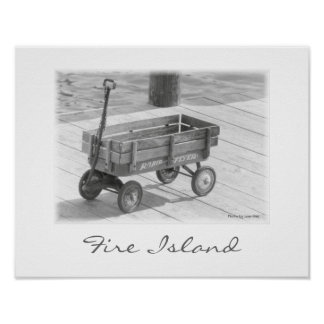 'Fire Island Wagon' Poster