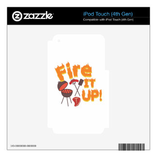 Fire It Up Decal For iPod Touch 4G