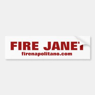 FIRE JANET, firenapolitano.com Car Bumper Sticker