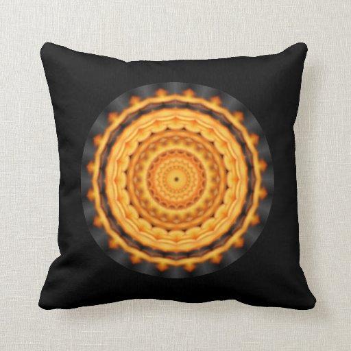 Fire Kaleidoscope Pillow