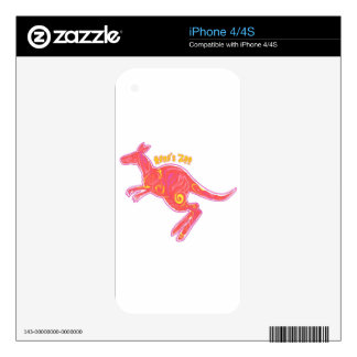 Fire Kangaroo Decals For The iPhone 4S