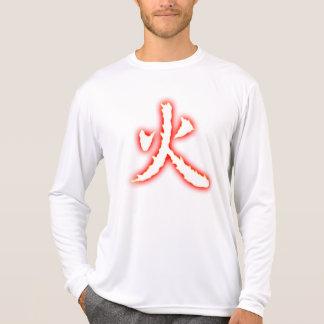 Fire Kanji Men's Micro Fiber Long Sleeve Shirt