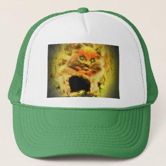 Fire Kitty With Emerald Eyes Trucker Hat