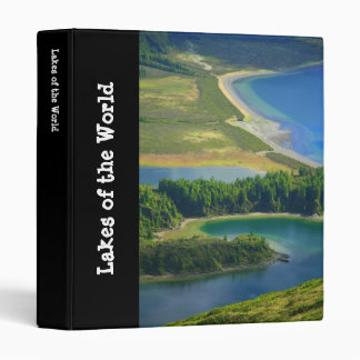 Fire Lake, Azores 3 Ring Binder