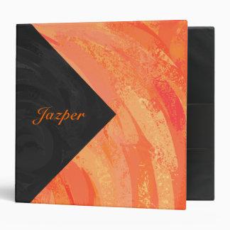 Fire Lake Orange and Black Monogram Binder