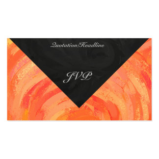Fire Lake Orange and Black Monogram Business Card