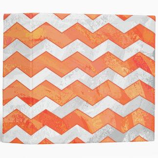 Fire Lake Orange Chevron Pattern Binder