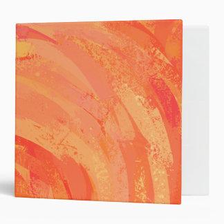 Fire Lake Orange Swirl Binder