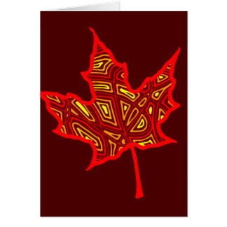 Fire Leaf Card
