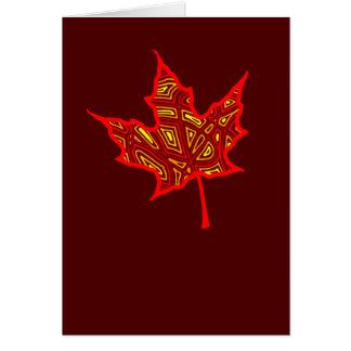 Fire Leaf Card