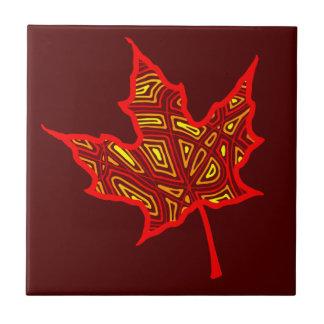 Fire Leaf Ceramic Tile