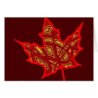 Fire Leaf - Customized Card