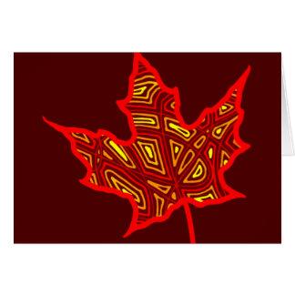 Fire Leaf - Customized Cards