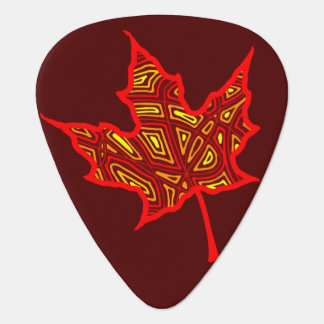 Fire Leaf Guitar Pick