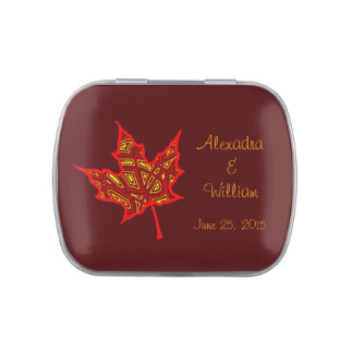 Fire Leaf Jelly Belly Candy Tin