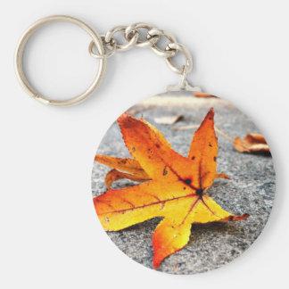 Fire Leaf Keychain