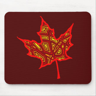 Fire Leaf Mouse Pad