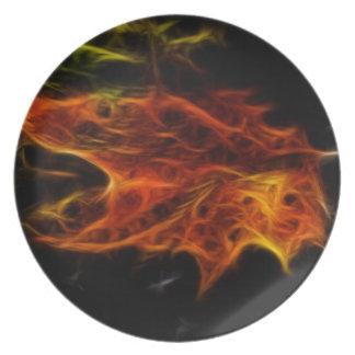Fire Leaf Dinner Plates