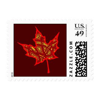 Fire Leaf Stamp