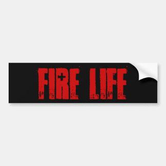Fire Life Bumpersticker Bumper Sticker