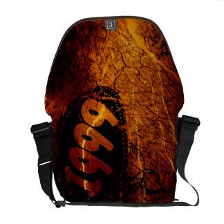 Fire Lightning Crack Vintage 1999 - Messenger Bag