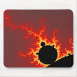 Fire Lightning Mouse Pad