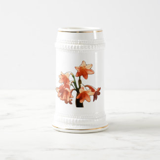 Fire Lily, a Cyrtanthus Hybrid 18 Oz Beer Stein