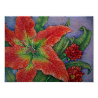 Fire Lily Card Stock Print