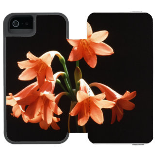 fire lily iPhone SE/5/5s wallet case
