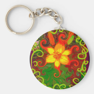 Fire Lily Key Chains