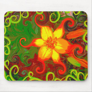 Fire Lily Mouse Pad