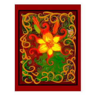 Fire Lily Postcard