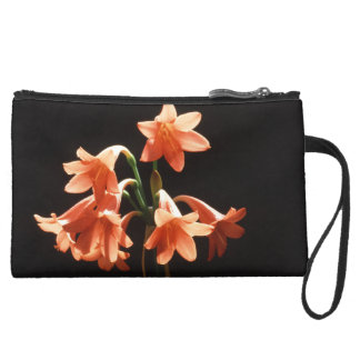 fire lily suede wristlet