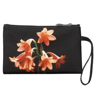 fire lily suede wristlet wallet