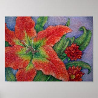 Fire Lily UV-resistant Print