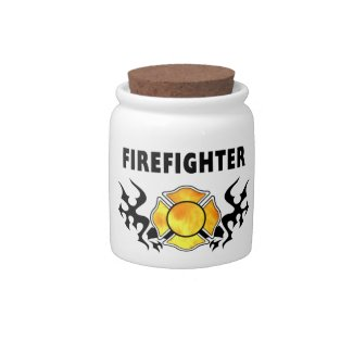 Firefighter Candy Jars and Gift Ideas