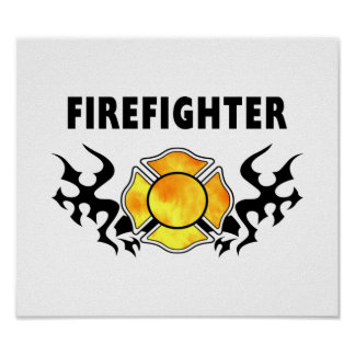 Fire Line Tattoo Poster