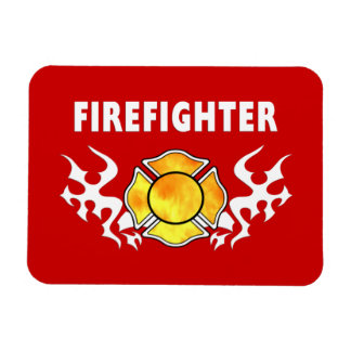 Fire Line Tattoo Rectangular Photo Magnet