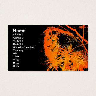 Fire Lion Business Card