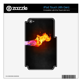 Fire Lit Match iPod Touch 4G Skin
