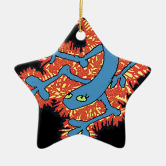 Fire Lizard Ceramic Ornament