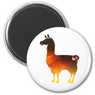 Fire Llama Magnet