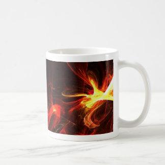 Fire Logo Fractal Abstract Art Gear Coffee Mug