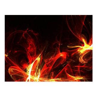 Fire Logo Fractal Abstract Art Gear Postcard
